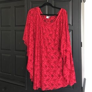 Red lace top/coverup